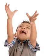 Child reaching up