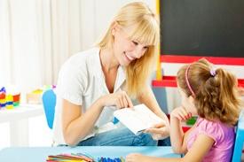 Teacher and girl